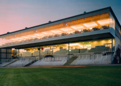 The Hampshire Stand comprises three floors and offers amazing panoramic views over the track from the Hennessy Suite